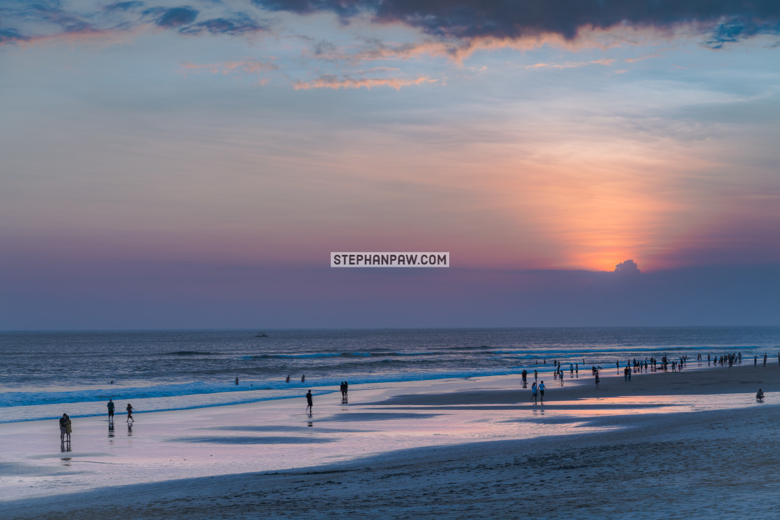 """Colour bomb sunset // Seminyak Beach, Bali"" stock image"