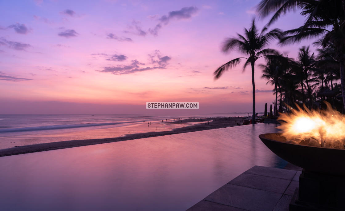 """The sun has set // Seminyak Beach, Bali"" stock image"