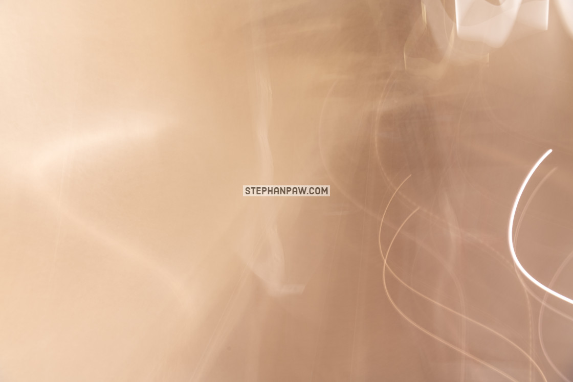 """Painting with light inside the 9/11 Memorial & Museum // Manhatt"" stock image"