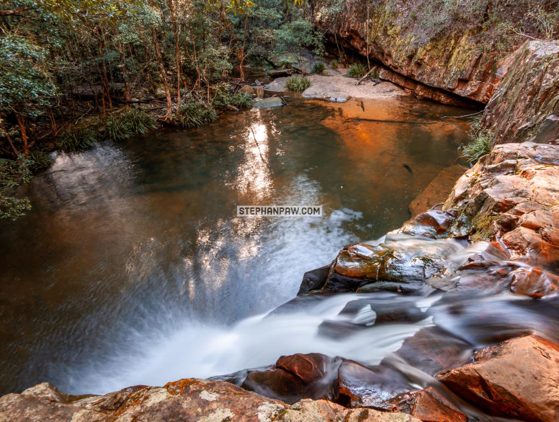 """Waitui Falls // Comboyne, NSW"" stock image"