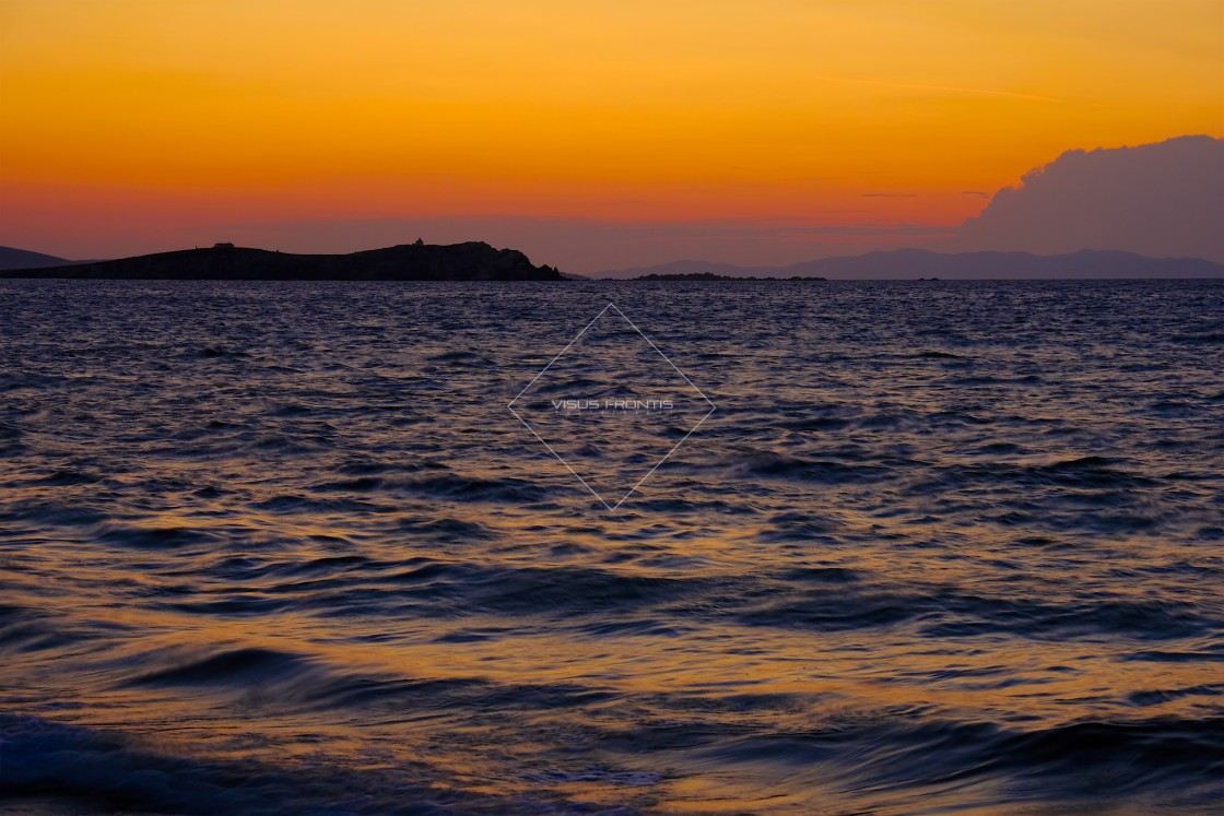 """Mykonos Sunset"" stock image"