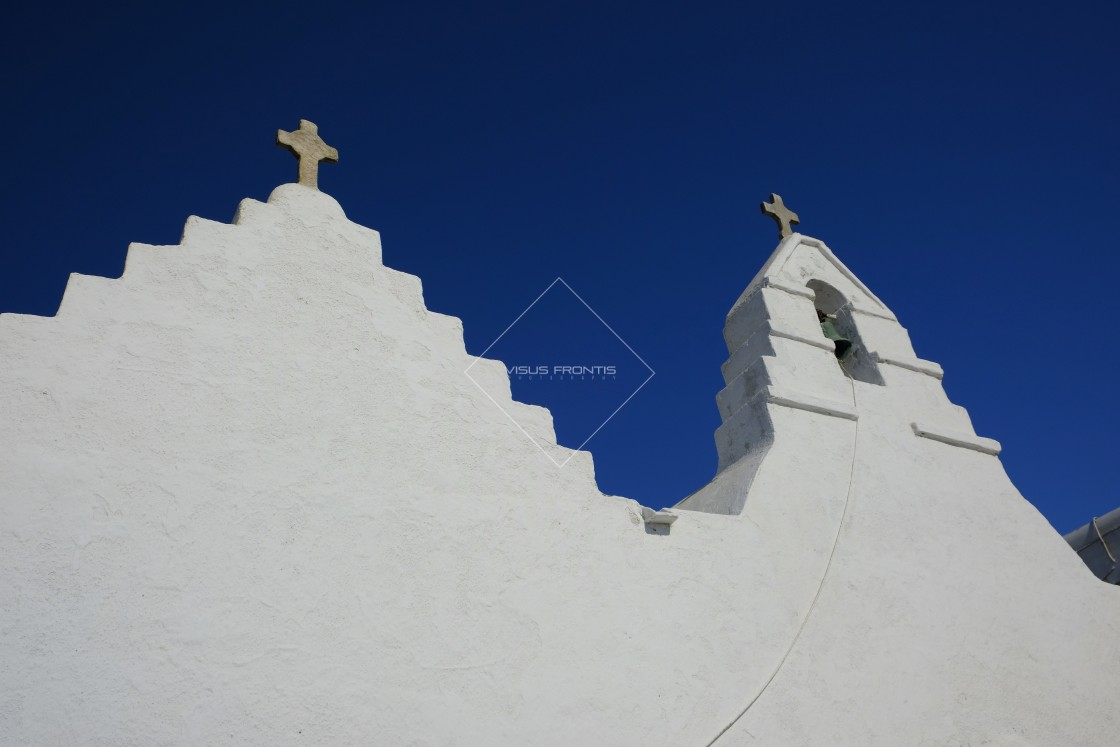 """Mykonos Churches"" stock image"