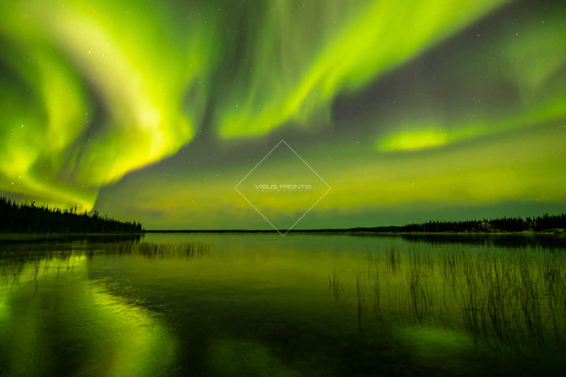 """Aurora Reflection"" stock image"