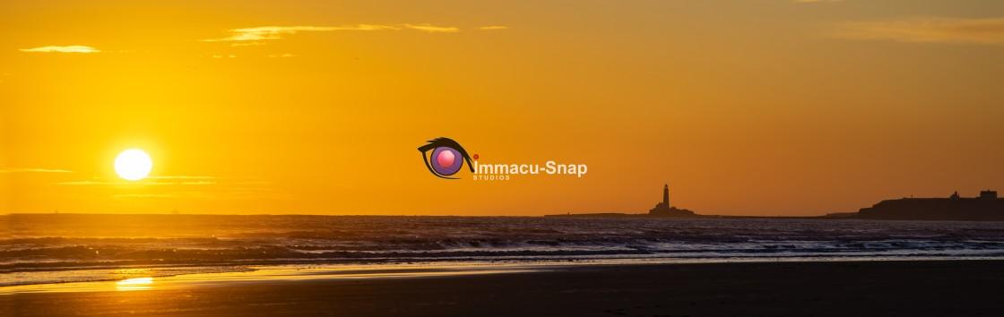 """Golden Sunrise at Blyth"" stock image"