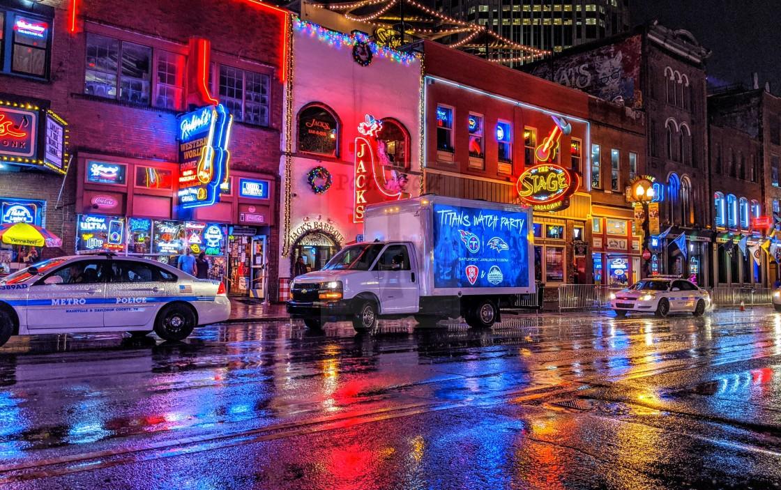 """Broadway Honky Tonk Colours"" stock image"