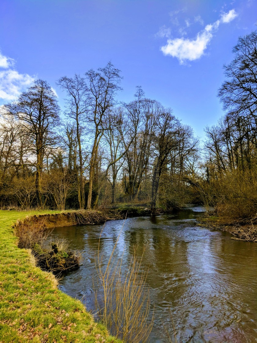 """""""A Bend in the River"""" stock image"""