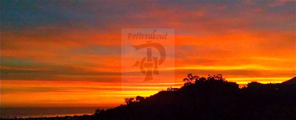 """Malibu Sunset California"" stock image"