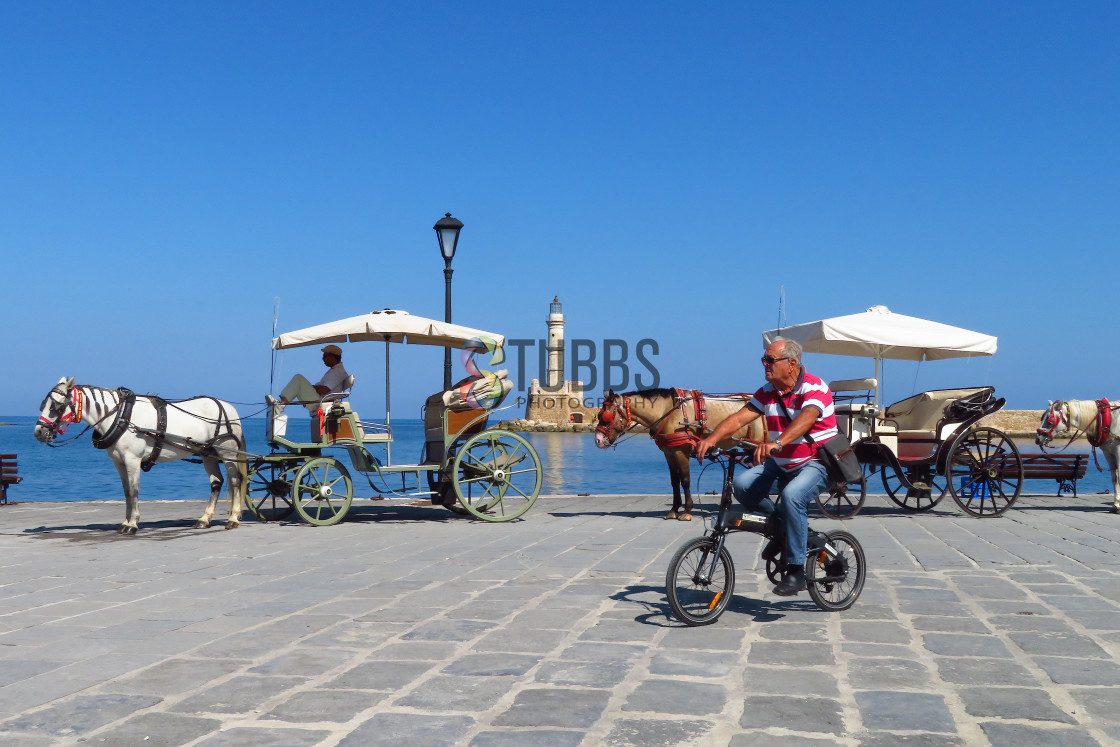 """Horse Rides Around Chania"" stock image"