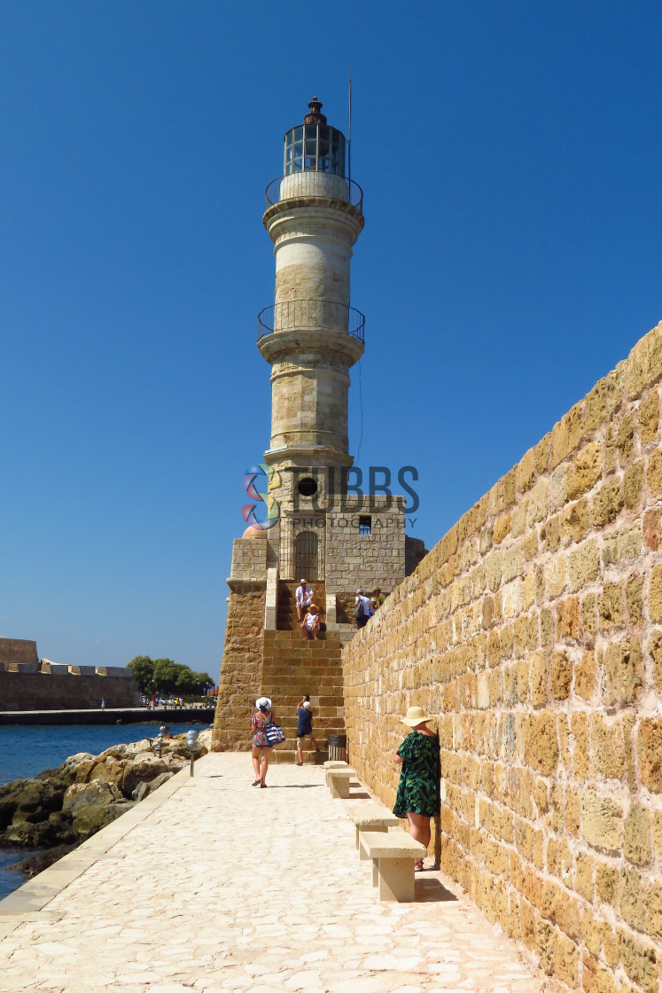 """Chania Lighthouse"" stock image"