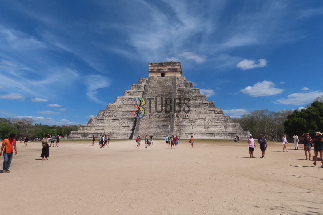 """Kukulcan temple"" stock image"