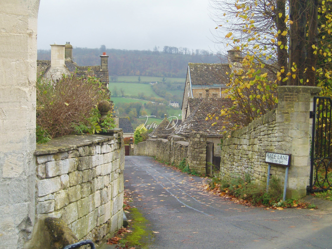 """Hale Lane, Painswick, England"" stock image"