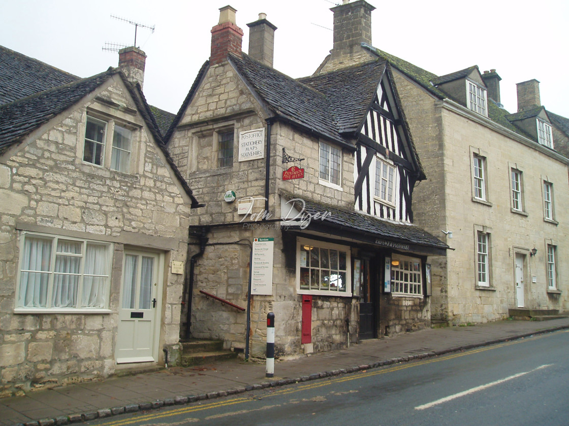 """Painswick Post Office, England"" stock image"