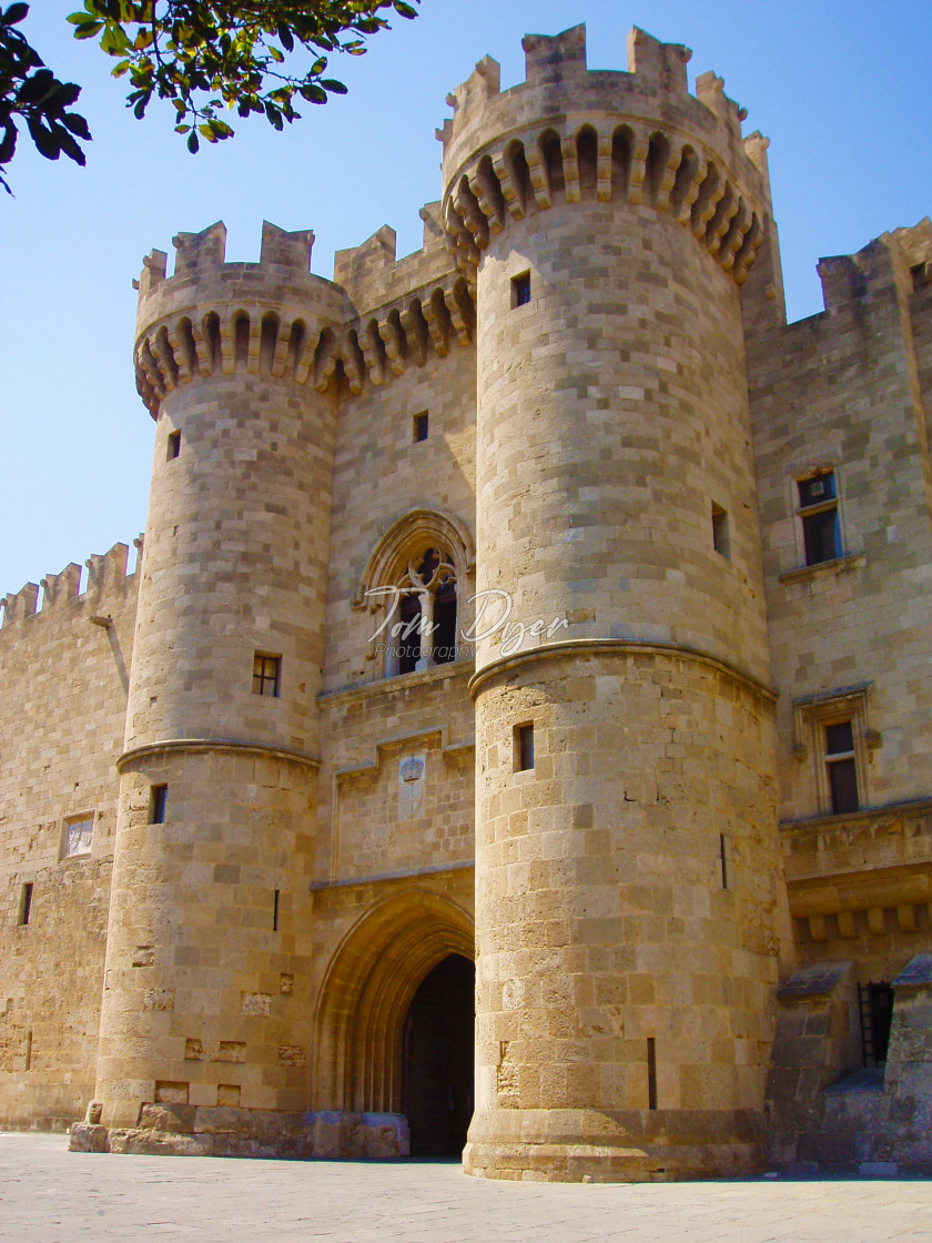 """""""Palace of the Grand Master of the Knights of Rhodes, Old Town Rhodes, Greece"""" stock image"""