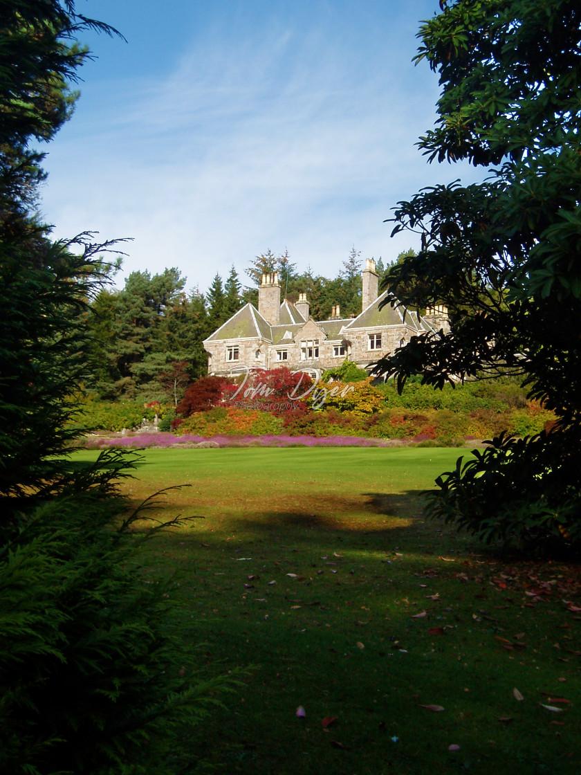 """Tillypronie House and Gardens, Aberdeenshire, Scotland"" stock image"