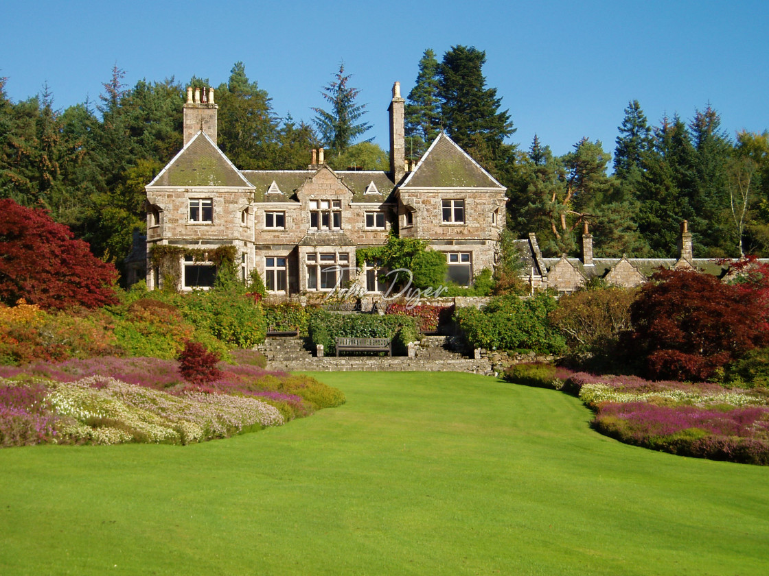 """Tillypronie House and Gardens, Aberdeenshire, Scotland"" stock image"
