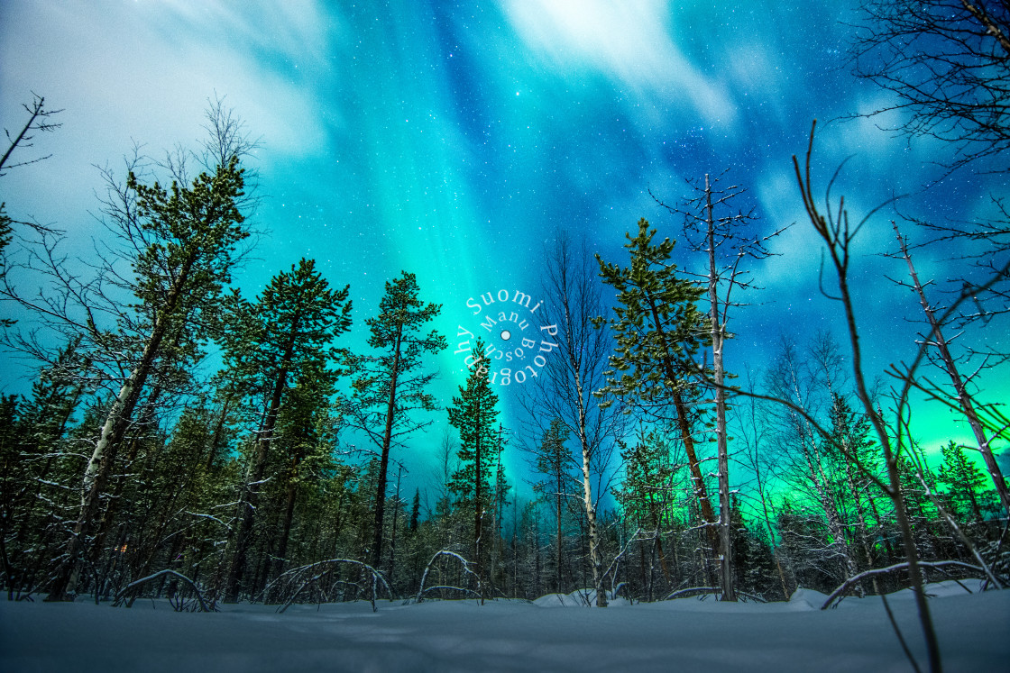 """Northern Lights - Levi - Feb. 2017"" stock image"
