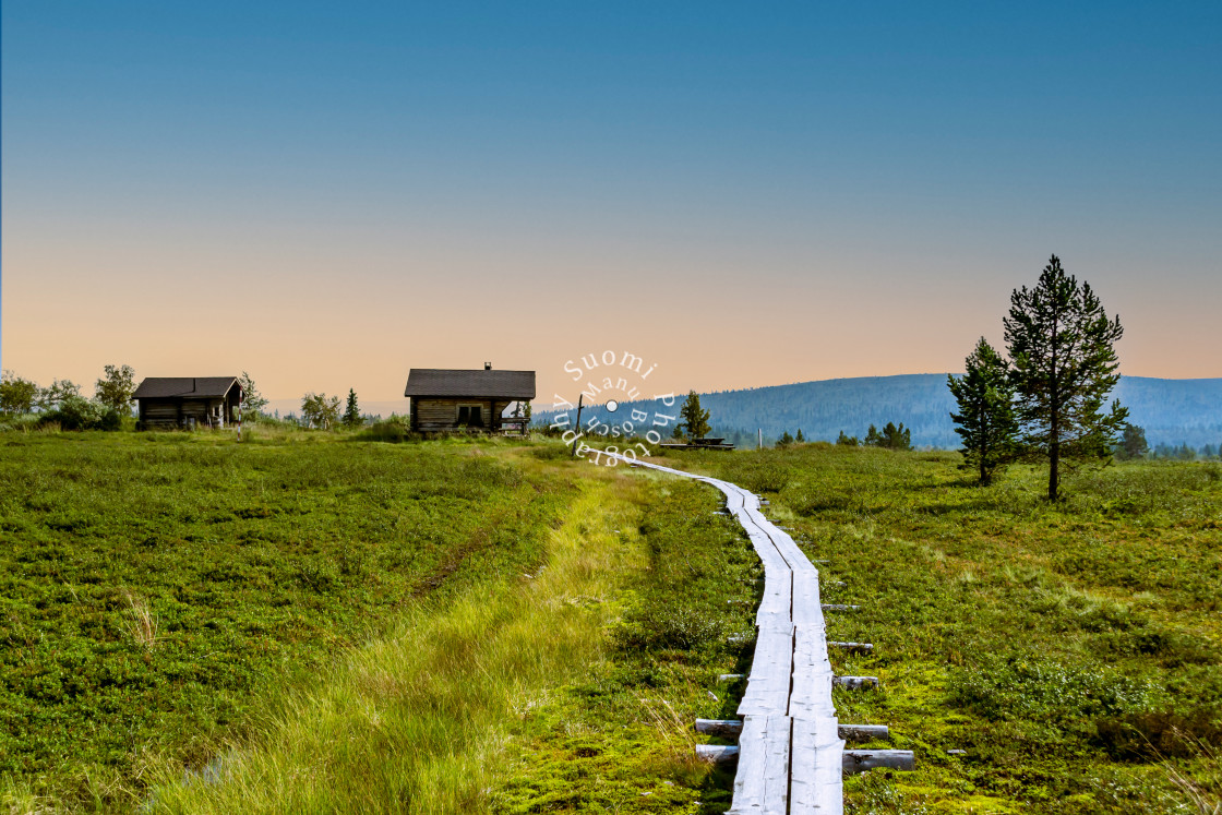 """""""Hiking in Lapland"""" stock image"""