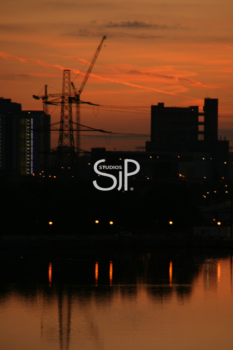 """City of London Sunset (1)"" stock image"