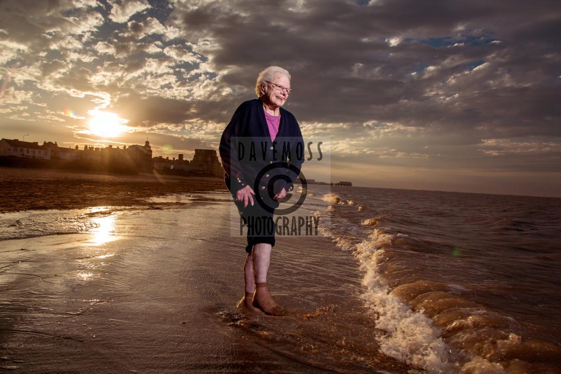 """Brenda Fisher - long distance swimmer"" stock image"