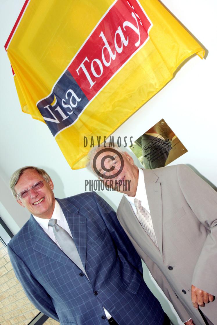 """Nisa Today's founders Dudley Ramsden and Peter Garvin"" stock image"