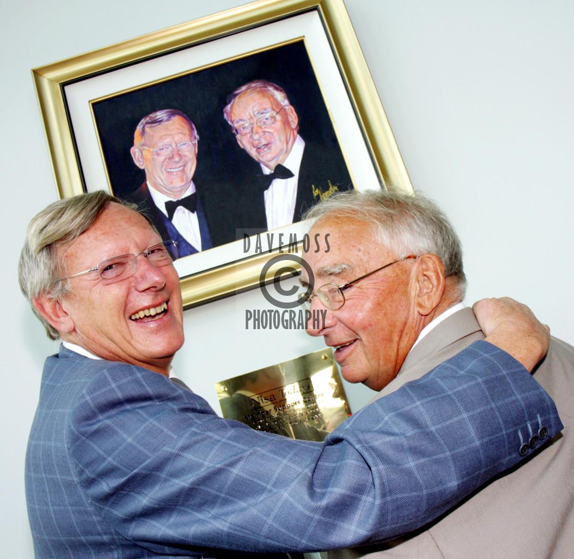 """Nisa Today's founder members Dudley Ramsden and Peter Garvin in 2008"" stock image"
