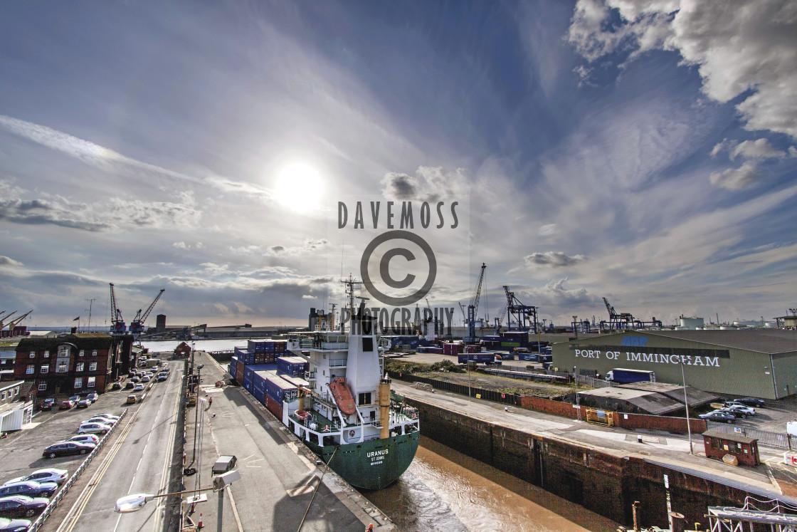 """""""Immingham Docks commercial shipping docks"""" stock image"""