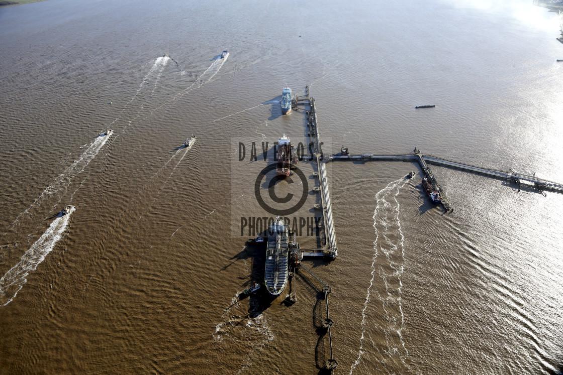 """Immingham Docks River Humber Jetty ABP"" stock image"