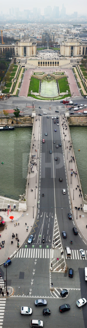 """Vertical panorama from Eiffel Tower"" stock image"