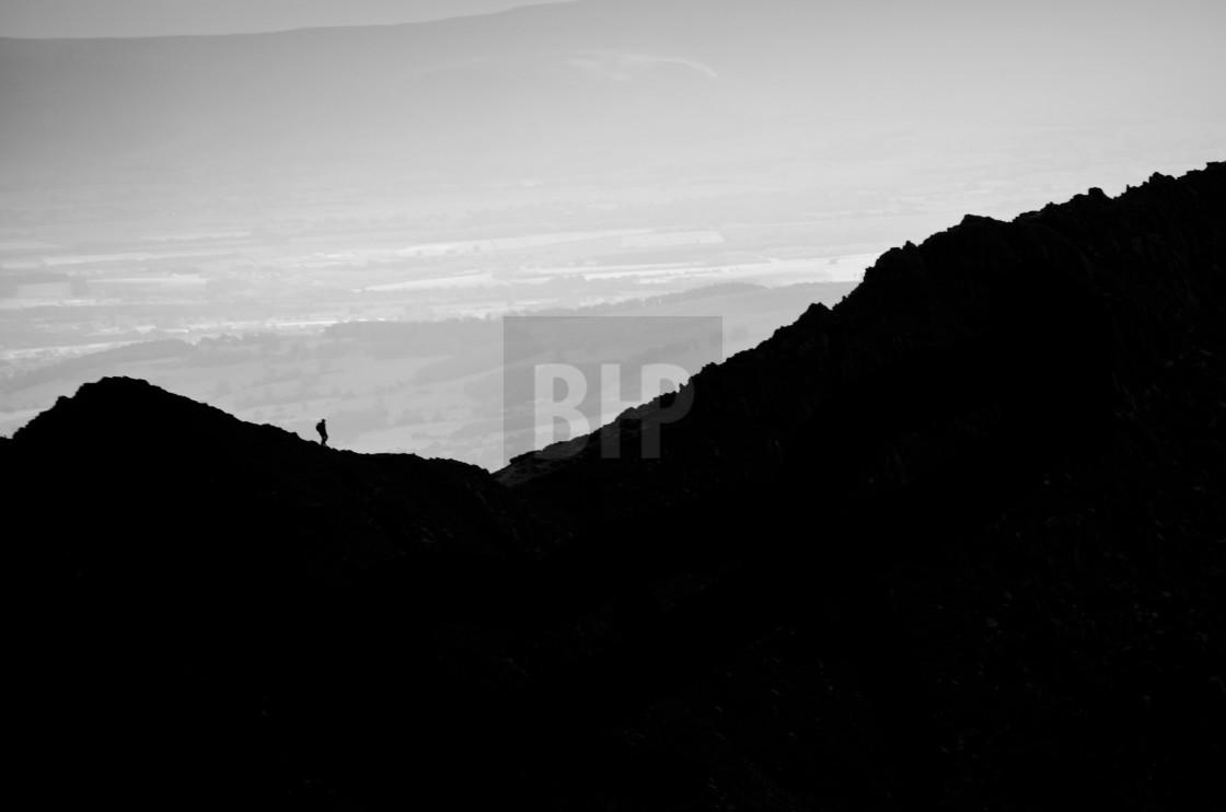 """Walking on the Edge"" stock image"