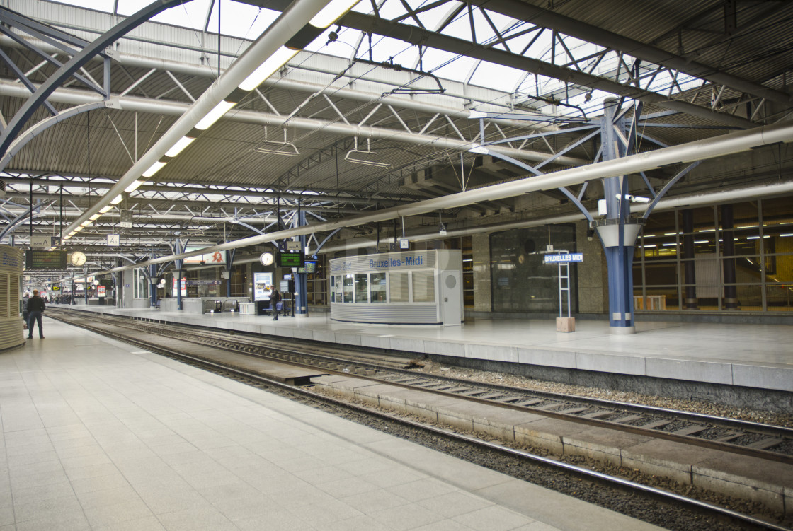 """Brussels Midi Train Station"" stock image"