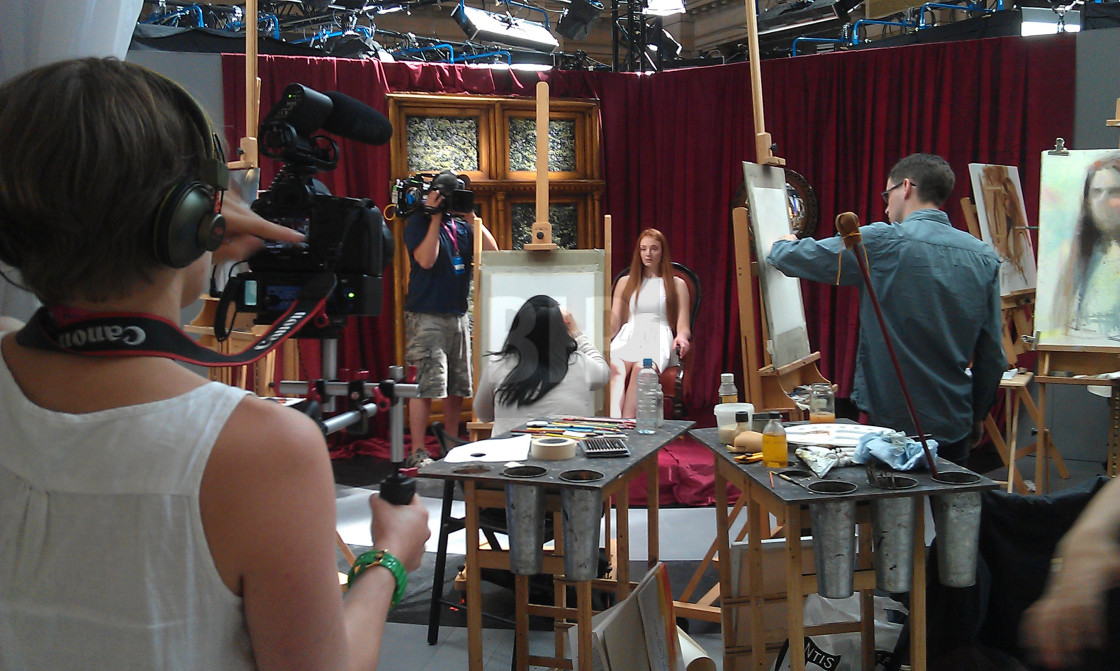 """Sky Arts Portrait Artist of the Year Competition"" stock image"