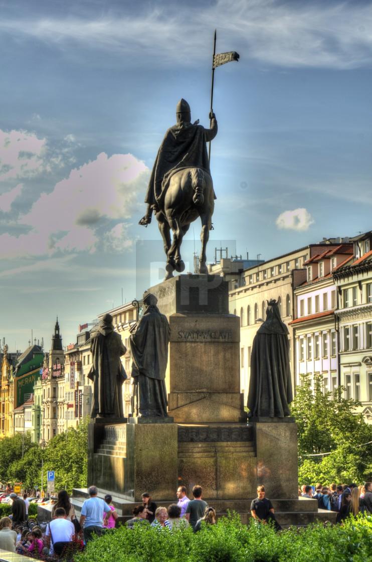 """""""Wenceslas Square, Prague"""" stock image"""