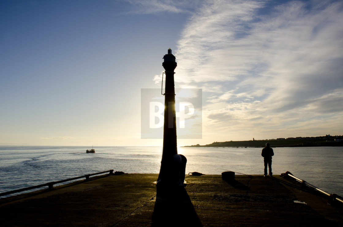 """Anstruther Pier"" stock image"
