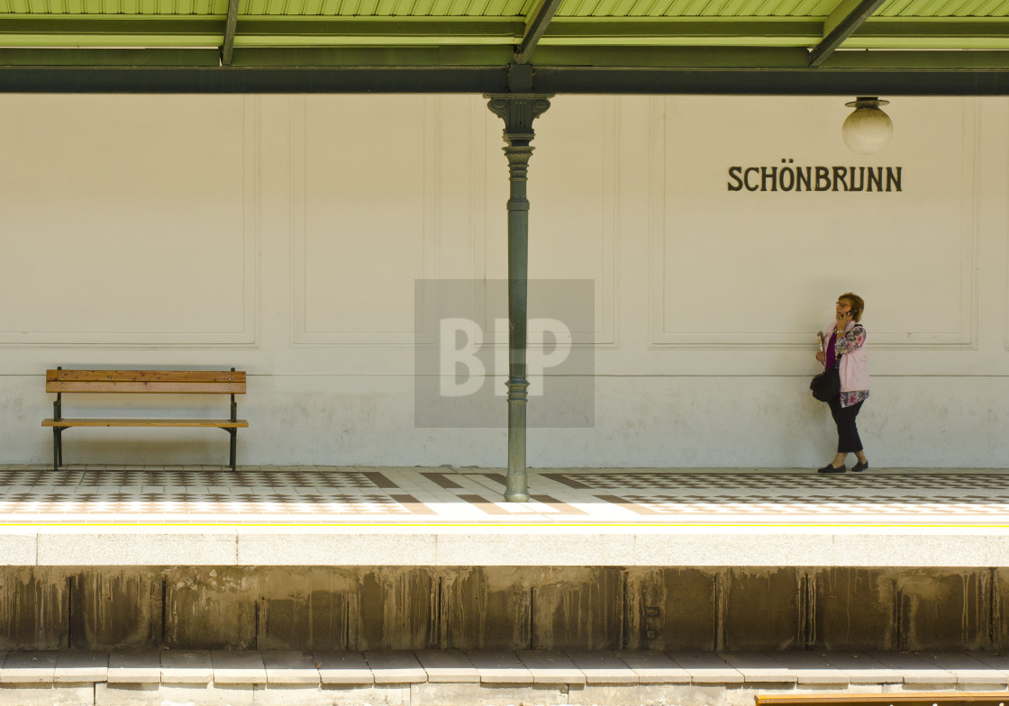 """Waiting for the U-Bahn"" stock image"