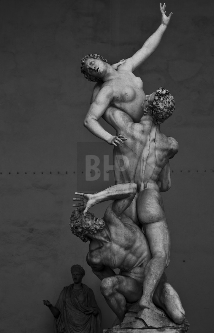 """The Rape of the Sabine Women"" stock image"