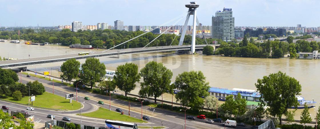 """New Bridge, Bratislava"" stock image"
