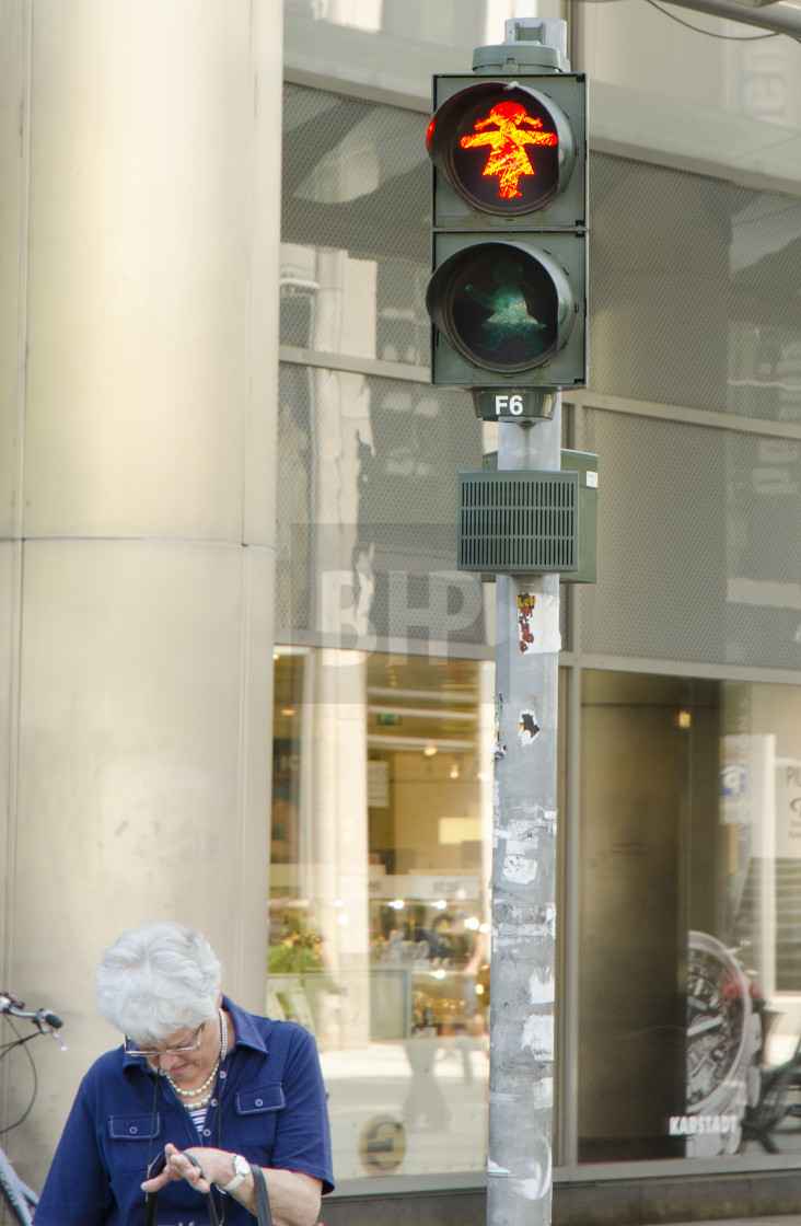 """Unusual signal control in Dresden, Germany"" stock image"