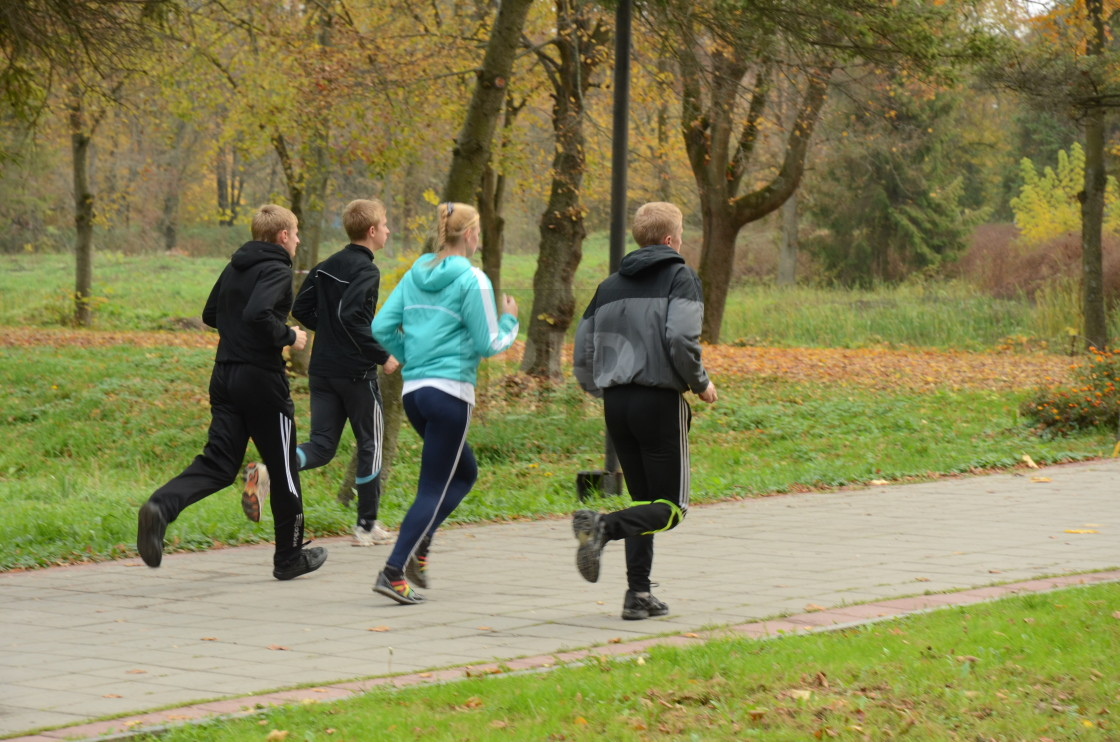 """Runners in Lutsk, Ukraine"" stock image"