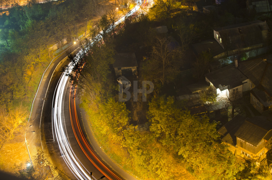 """Kyiv street at night"" stock image"