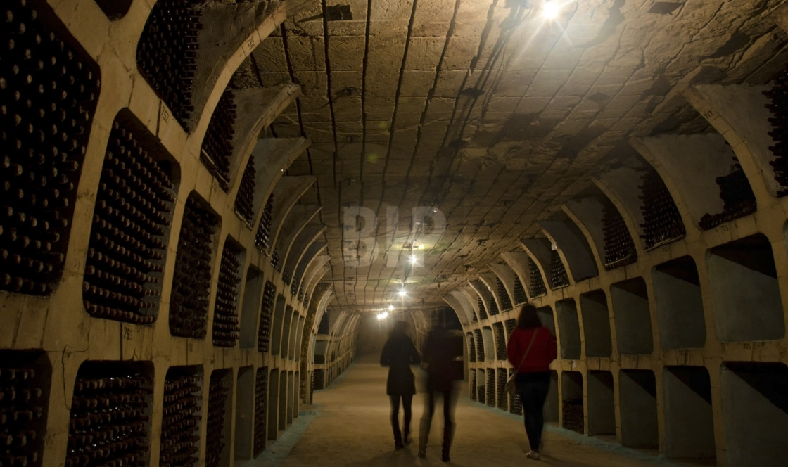 """Tunnels for storing wine"" stock image"