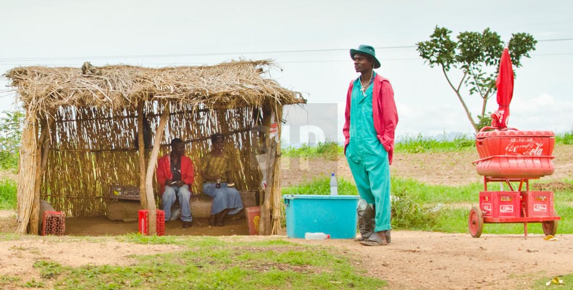 """Malawian Coca Cola Seller"" stock image"
