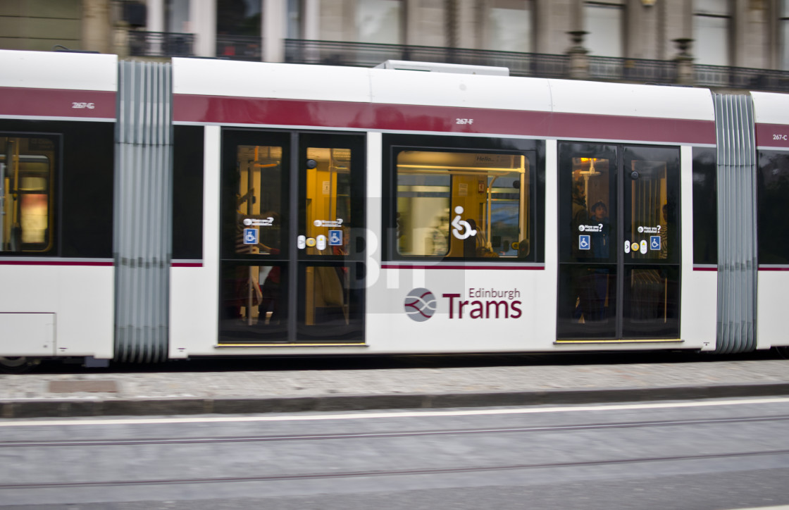 """Edinburgh Tram"" stock image"
