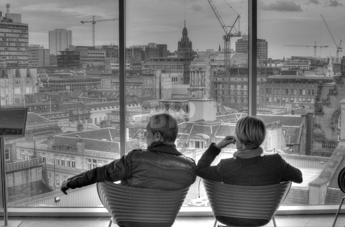 """Looking over the city"" stock image"