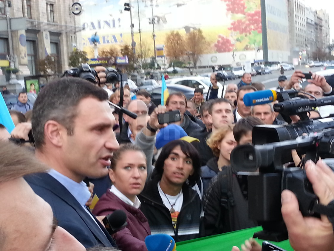 """Vitaliy Klitchko on Khreshchatyk on 25th September, 2014 in Kyiv, Ukraine."" stock image"