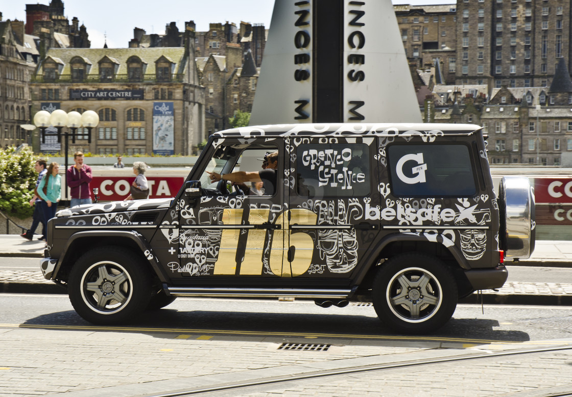 """Jeep at Gumball 3000 in Edinburgh"" stock image"