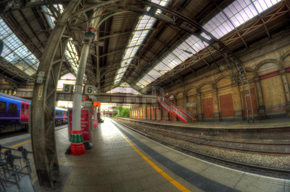 """Preston Train Station, England"" stock image"