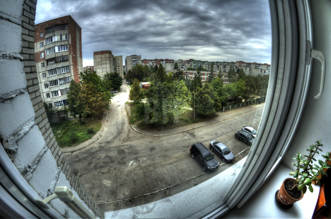 """Soviet era architecture residential view"" stock image"