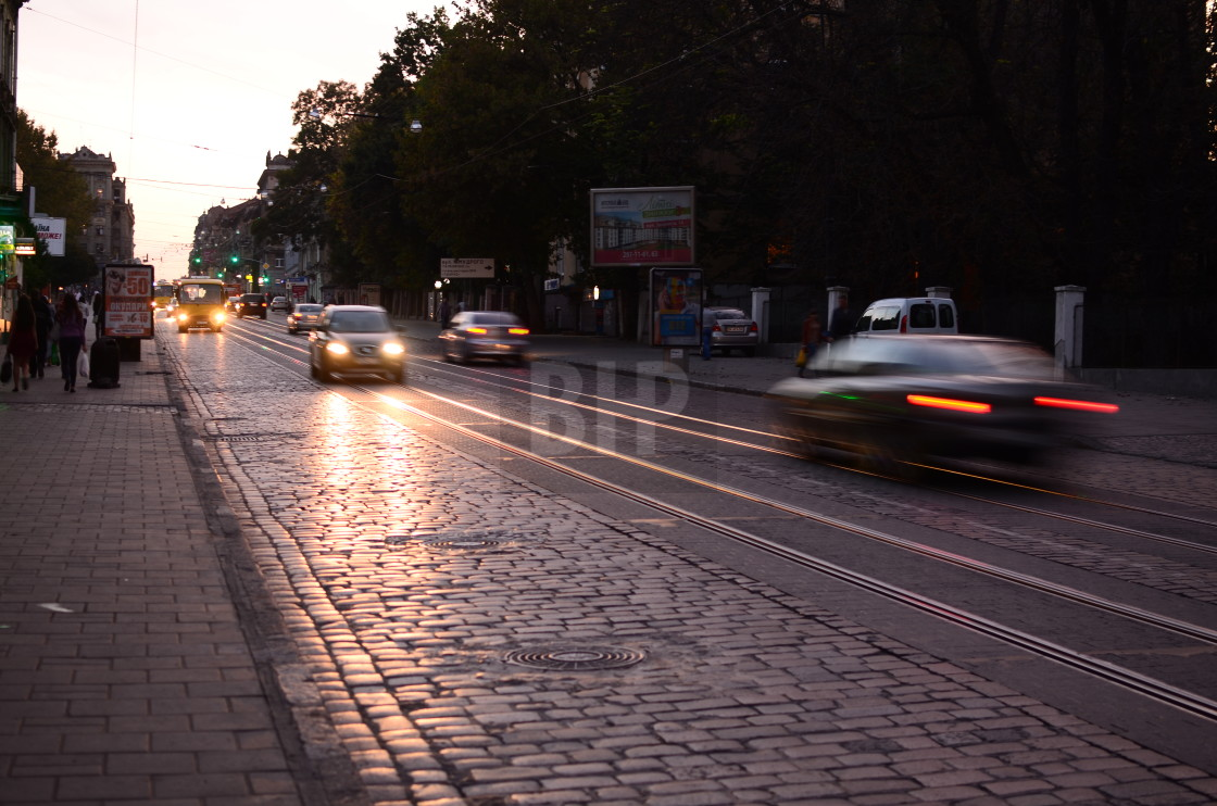 """Traffic in Lviv, Ukraine"" stock image"