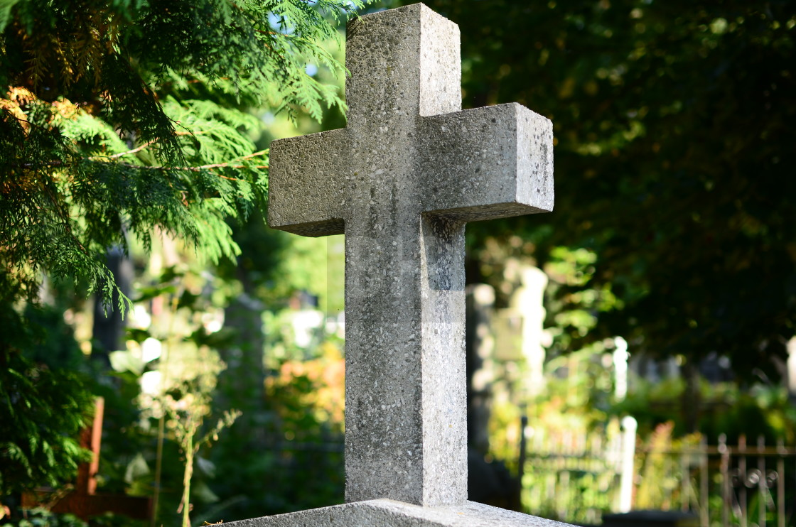 """Gravestone cross"" stock image"