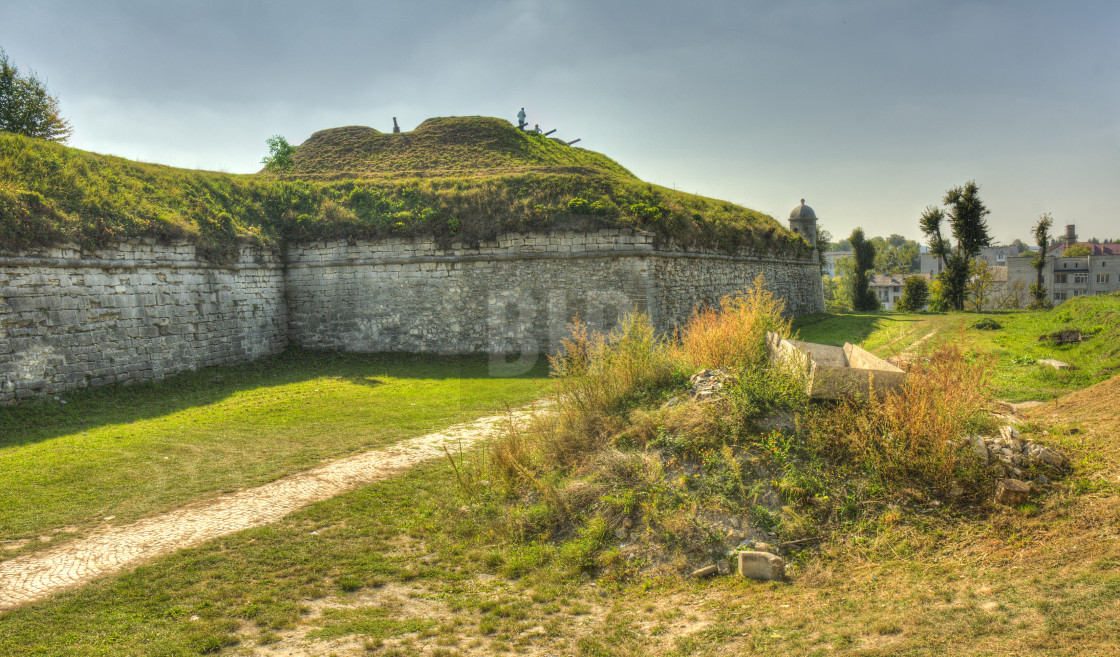 """Zolochiv Castle fortifications, Ukraine"" stock image"